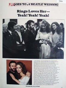 Ringo Starrs Wedding Article with Pictures 1981