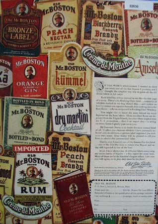 Old Mr Boston And 36 Labels Ad 1947