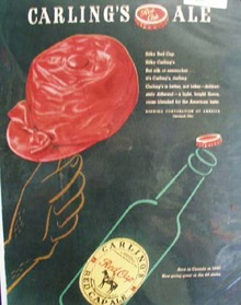 Carlings Silky Red Cap Ale Ad  1947