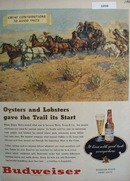 Budweiser Oysters and Lobsters Ad 1946