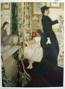 Mother And Daughter Picture in Bedroom 1903