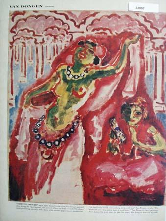 Oriental Dancer by Van Dongen Picture 1960