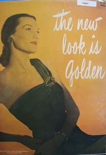 DuBarry New Look Is Golden Ad 1946