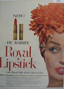 DuBarry New Royal Lipstick Ad 1958