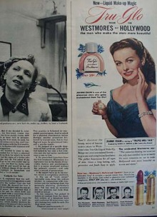 Jeanne Crain and Westmore Make Up Ad 1951