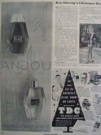 Anjou Perfume Christmas  Ad