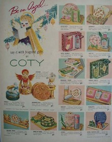 Coty Be An Angel Christmas  Ad 1953