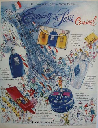 Evening In Paris Carnival Ad 1951