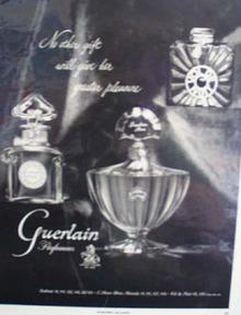 Guerlain Perfumes Christmas Ad 1953