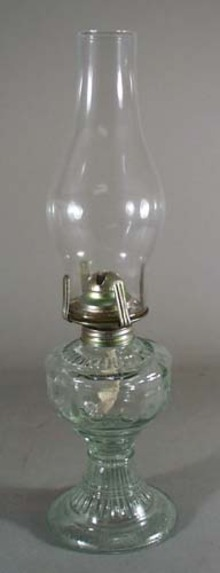 Mini Oil Lamp, with birds around bowl