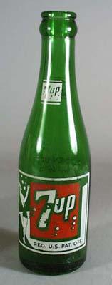 7 up bottle 1950s era