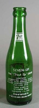 7 up bottle 1950s era
