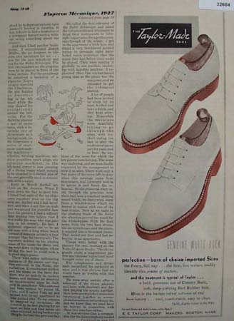 Taylor Made Shoe Born of Choice 1948 Ad