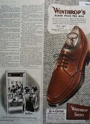 Winthrops Shoes Famous Slack 1946 Ad