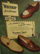 Winthrop Shoes New Leisure Shoe For Men 1947 Ad