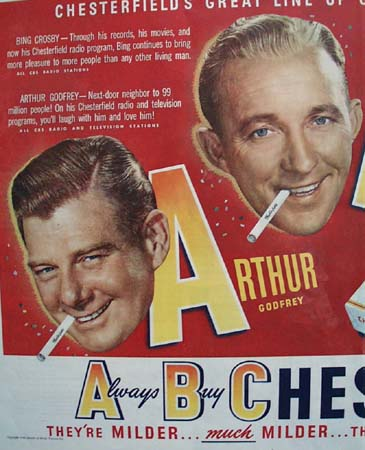 Chesterfield Cigarette Great Line Up 1949 Ad