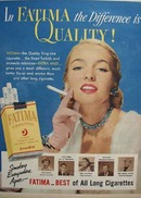 Fatima Cigarettes Smokers Agree Fatima Best 1951 Ad
