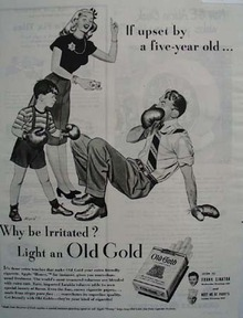Old Gold Cigarette Boxing Upset 1946 Ad