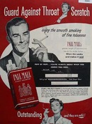 Pall Mall Cigarette Greater Length 1951 Ad