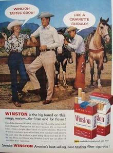 Winston Cigarette Western Scene 1958 Ad