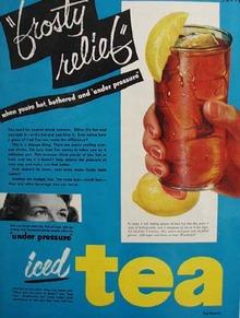 Tea Council Iced Tea Frosty Relief 1951 Ad