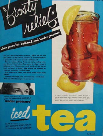 Tea Council Iced Tea Frosty Relief 1951 Ad