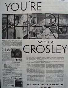 Crosley Radio And Appliances 1932 Ad