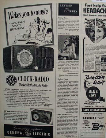 General Electric Radio Most Useful Radio 1950 ad