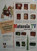 Motorola TV And Radio Right Gift 1950 Ad