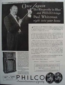 Philco Radio Paul Whiteman 1932 Ad