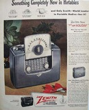 Zenith Radio Tip Top Holiday 1949 Ad