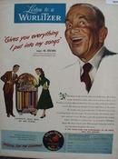 Wurlitzer Music Al Jolson 1948 Ad