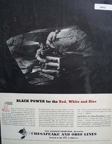 Chesapeake and Ohio Lines Black Power 1942 Ad