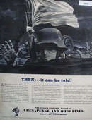Chesapeake and Ohio Lines White Flag 1942 Ad
