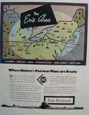 Erie Railroad The Erie Area 1944 Ad