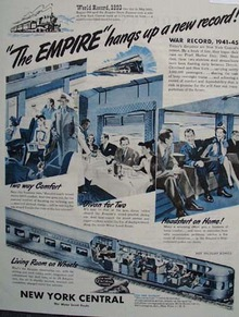 New York Central Railroad World Record 1945 Ad