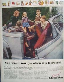 B.F. Goodrich Koroseal 1946 Ad