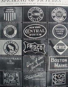 Railroad Emblems 1940s Ad