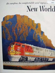 Santa Fe Railroad Super Chief 1951 Ad