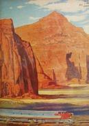 Santa Fe Railroad Indian Country 1954 Ad