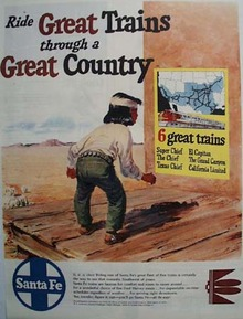 Santa Fe Railroad Great Country 1950 Ad