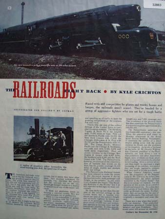 Railroads Fight Back Kyle Crichton 1946 Article