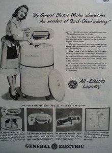 General Electric All Electric Laundry 1948 Ad
