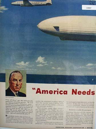 Goodyear Aircraft Eddie Rickenbacker 1945 Ad