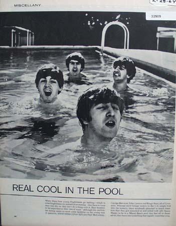 Young Englishmen In Miami Pool 1964 Article