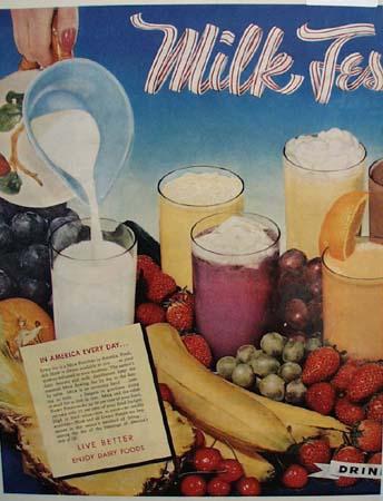 American Dairy Association Milk Festival 1951 Ad
