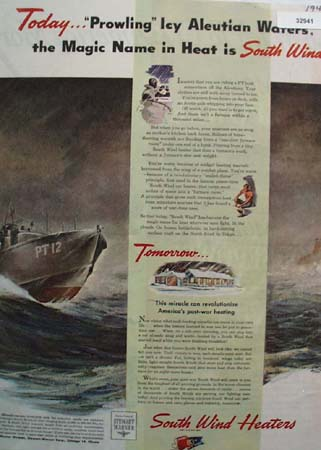Stewart Warner South Wind Heaters 1944 Ad