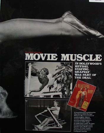 Movie Muscle Marilyn Monroe Alan Ladd 1987  Ad