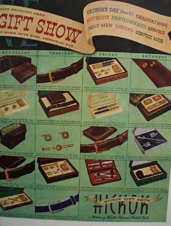 Hickok Accessories Gift Show 1952 Ad