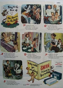 Swan Soap Farmer in the Dell 1945 Ad